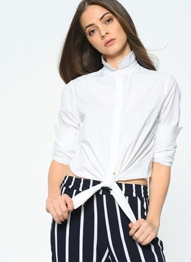 Only Önden Bağlamalı Gömlek Beyaz